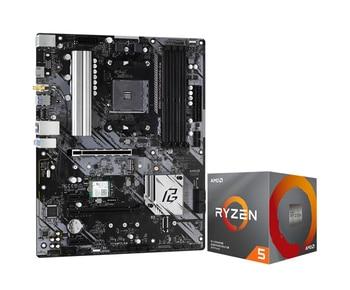 ASRock B550 Phantom Gaming 4/ac motherboard +R53600/3600X/3600XT R73700X CPU  set