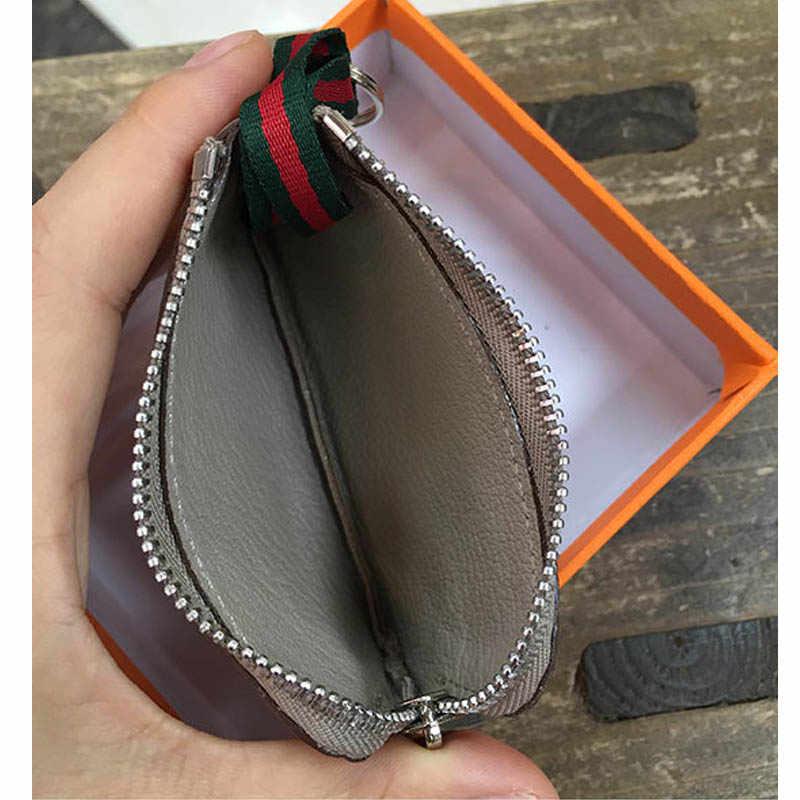 Echtem Leder schlüssel beutel Mode marke keychain Unisex schlüssel halter fall luxus designer auto schlüssel tasche nette solid key brieftasche