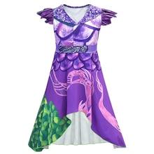 Child Costume Descendant Dressup Disguise Girls Audrey 3 Dragon Mal Jumpsuit Wicked World-Villain-Evie
