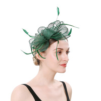 style bowknot headdress of Europe and the United States party bride high grade feather headdress flower hair hair band