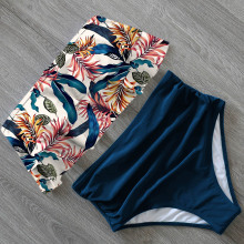 2020 New Sexy Bikinis Women Swimsuit High Waist Bathing Suit Plus Size Swimwear Push Up Bikini Set Vintage Beach Wear Biquini
