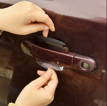 2018 NEW Car door handle stickers protector film for Hyundai Tucson I30 Accent Ix35 Buick Kia Rio K2 K3 5 Sportage accessories image