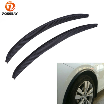 POSSBAY Car Fender Flares Arch Wheel Eyebrow 24cm Auto Mudguard Fender Flare Wheel Lip Body Kit Protector Cover Mud Guard image