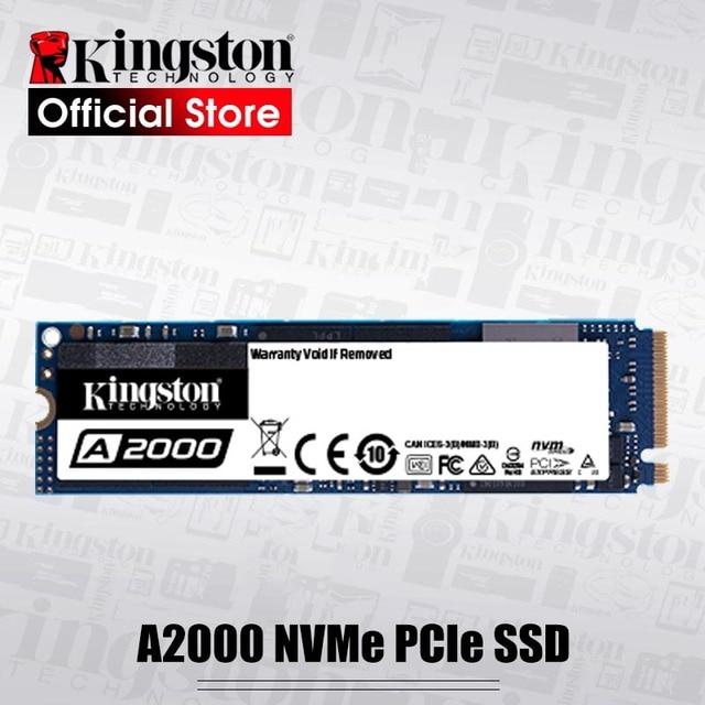 Kingston A2000 NVMe M.2 2280 PCIE SSD 250GB 500GB 1TB ฮาร์ดดิสก์ภายใน Solid State Drive SFF สำหรับ PC โน้ตบุ๊ค Ultrabook