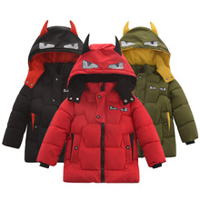 Outerwear Jackets Long-Coat Baby-Boys 2-6-Years-Old Winter Child Warm Fashion Cotton