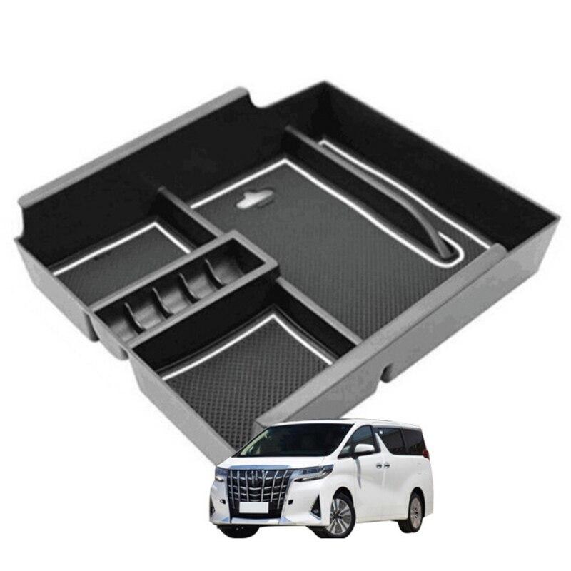 carro central corrimao caixa de armazenamento console corrimao braco armazenamento luva caixa bandeja para toyota alfa