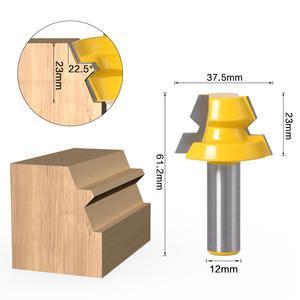 """Image 5 - 2 adet kilit gönye yönlendirici 22.5 derece tutkal doğrama yönlendirici Bit 1/2 """"12mm Shank 8mm shank ağaç İşleme kesici Tenon ahşap için kesici"""
