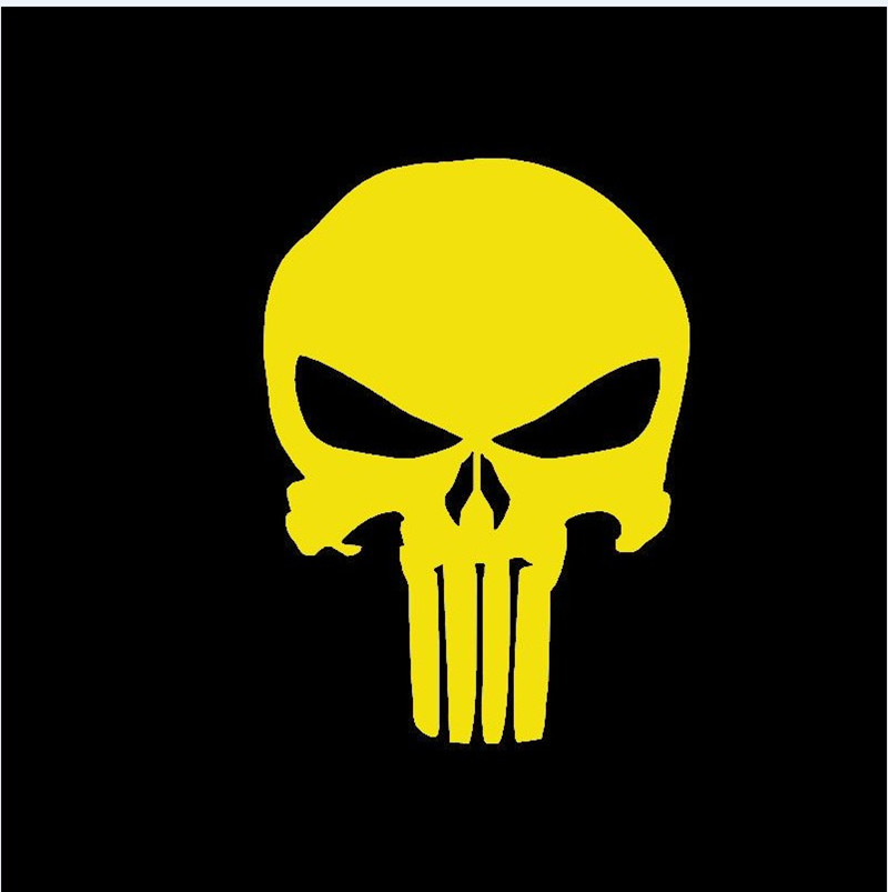 Car Terror Punisher Skull Car Sticker For Cars Side Truck Window Auto Door Vinyl Decal Halloween Easter