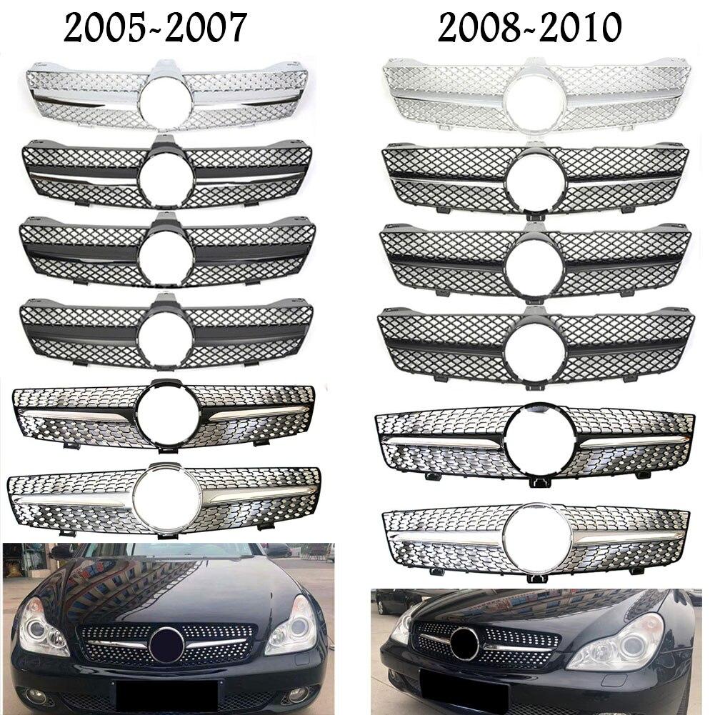 Anteriore Da Corsa Centro Grille Facelift Paraurti Griglia Per Mercedes Benz W219 CLS Classe 2005 2006 2007 2008 2009 2010 Diamante AMGStyle