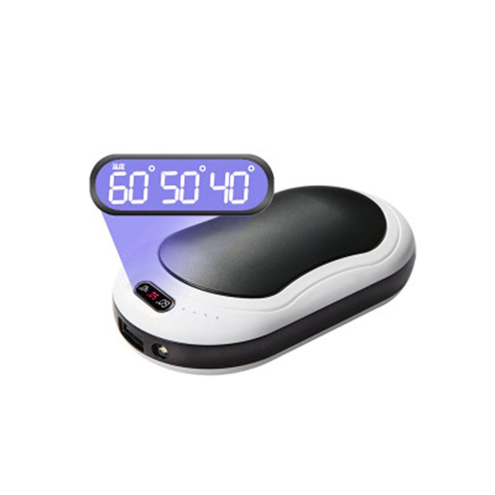 Грелка для рук Отопление мини фонарик 10000 мАч USB карман Портативный Температура Дисплей Массажная зимняя Мощность банка