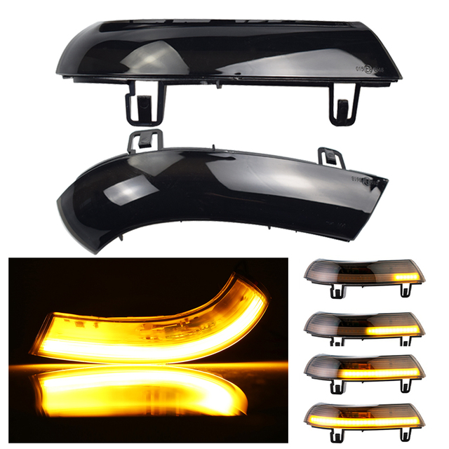 LED Dynamic Turn Signal Light For VW Passat B6 GOLF 5 Jetta MK5 Passat B5.5 GTI V Sharan Flowing Water Blinker Flashing Light