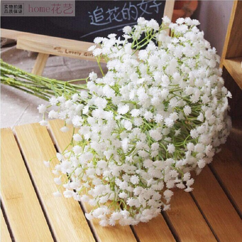 5pcs Charming Blossom Babys Breath Gypsophila Artificial Flowers for Wedding Decoration Home Garden Supplies Table Bouquet Decor|Artificial & Dried Flowers| - AliExpress