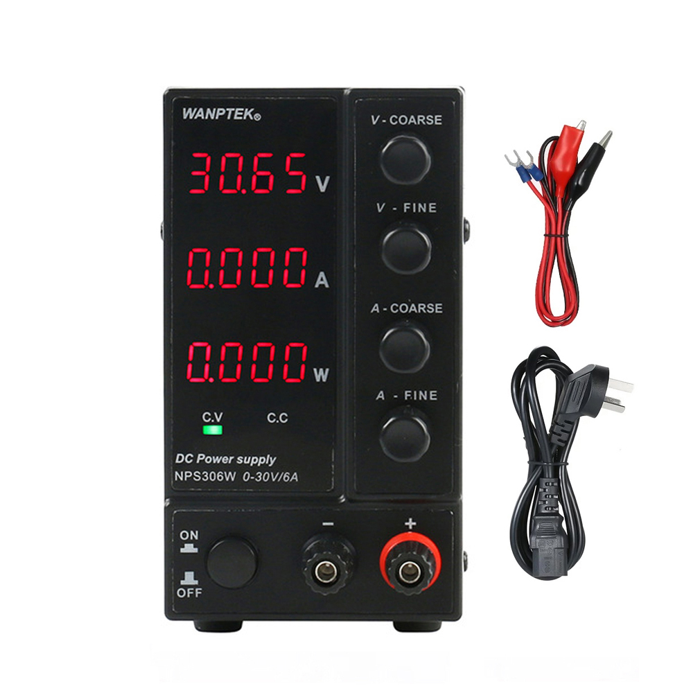 NPS306W 30V6A 180W 4 Digital Display DC Laboratory Regulated Power Supply Adjustable Voltage Regulator Switching Power Supply