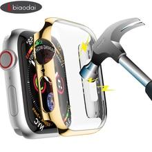 Защитный чехол для Apple Watch 4 5 iwatch Группа 42 мм 38 мм 44 мм 40 мм бампер Защитная крышка для экрана PC покрытие водонепроницаемый корпус