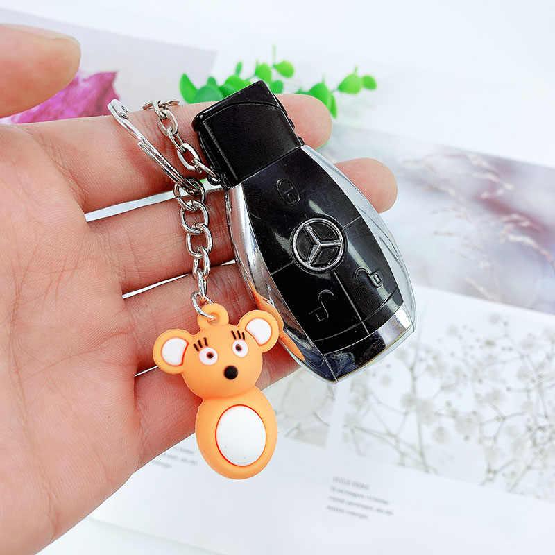 น่ารัก PVC Mini Mouse พวงกุญแจหญิงน่ารักซิลิโคนอุปกรณ์เสริมรถ Key chain จี้
