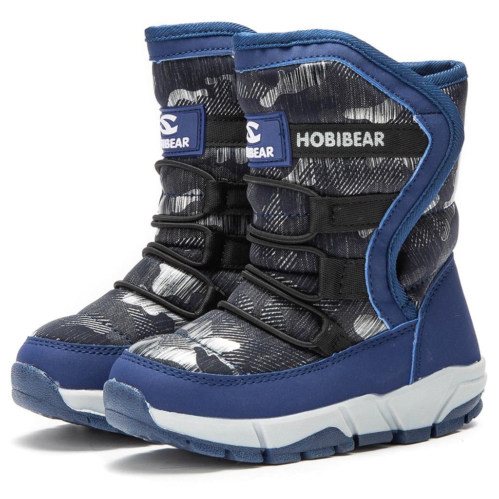 2019 enfants bottes garçons filles femmes bottes de neige hiver chaud imperméable à l'eau en plein air glisser météo chaussures bota infantil