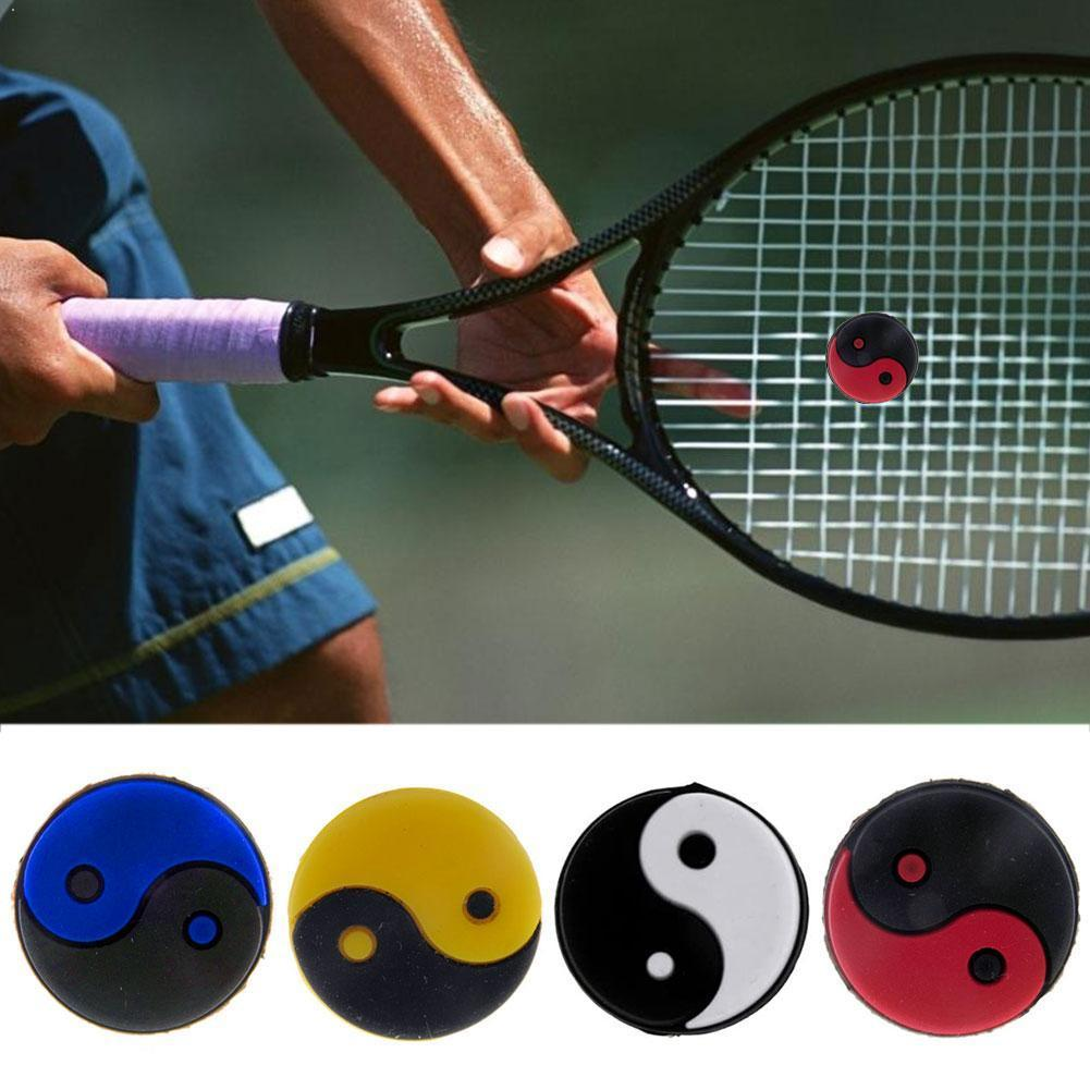 6pcs Tennis Racket Dampers Rubber Racquet Dampener Overgrip Tennis Absorber To Vibration Tennis Racquet Reduce Shock Y1L3