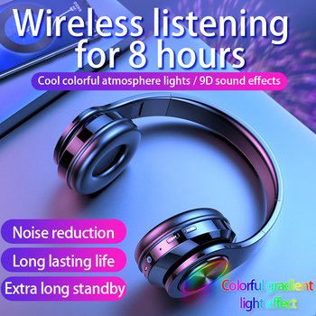 Wireless Headphones Bluetooth Earphone 5.0 Deep Bass Stereo Noise Reduction Gaming Headsets For Mobile