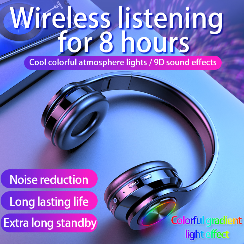 Wireless Headphones Bluetooth Earphone 5 0 Deep Bass Stereo Noise Reduction Gaming Headsets For Mobile