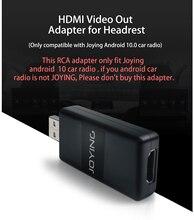 JOYING HDMI Đầu Ra Cáp Cho Gối Tựa Đầu Lưng Phía Sau Màn Hình Chỉ Phù Hợp Với JOYING Android 10 Đầu Đơn Vị