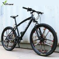 Neue X Front marke 24/26 zoll carbon stahl rahmen 24/27 speed downhill fahrrad mountainbike disc bremse MTB bicicleta-in Fahrrad aus Sport und Unterhaltung bei