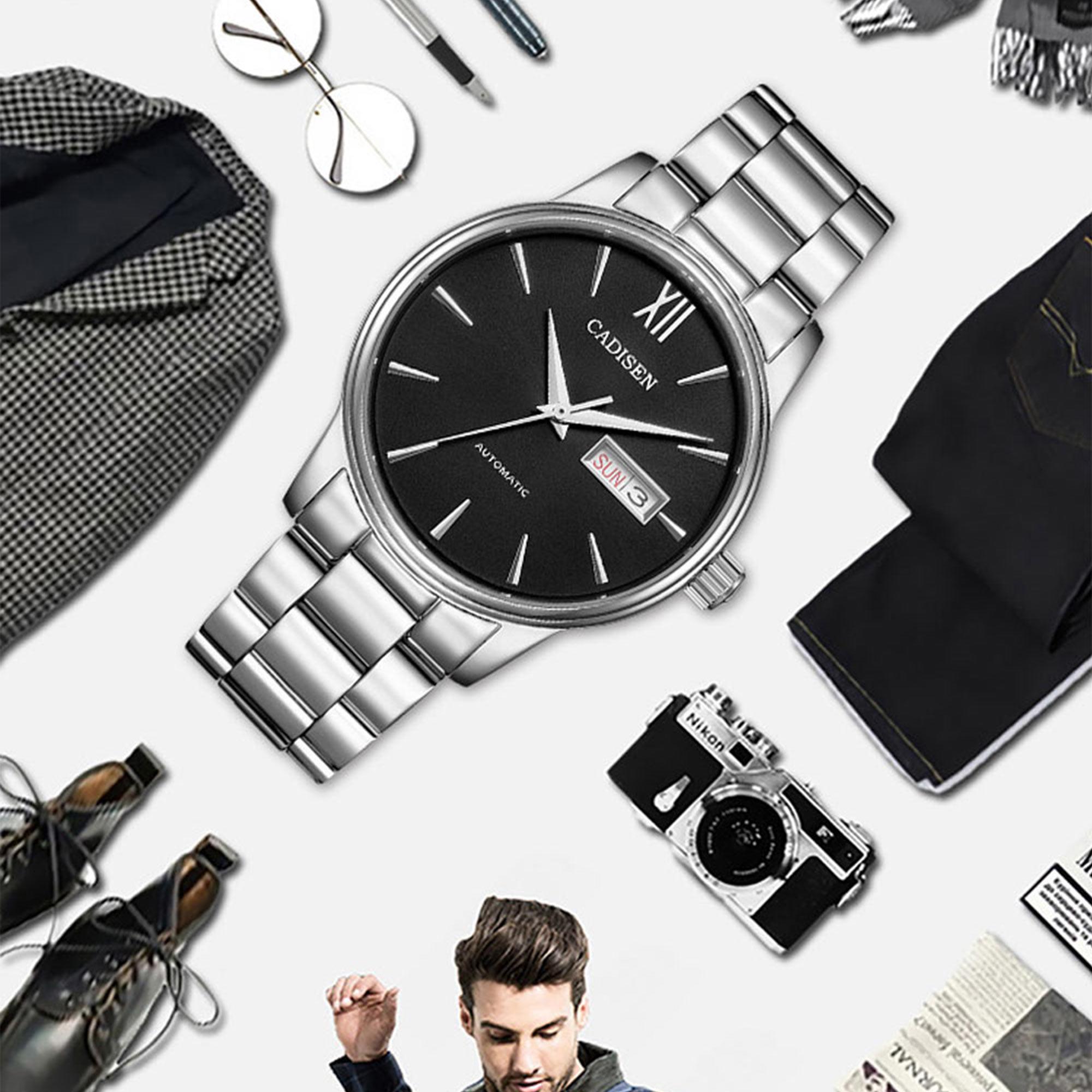 H7b09004efd9a4bf9bf8a88921ecf08e1O CADISEN Men Watch Automatic Mechanical Watches Role Date Week Top Luxury Brand Japan NH36A Wrist watch Clock Relogio Masculino