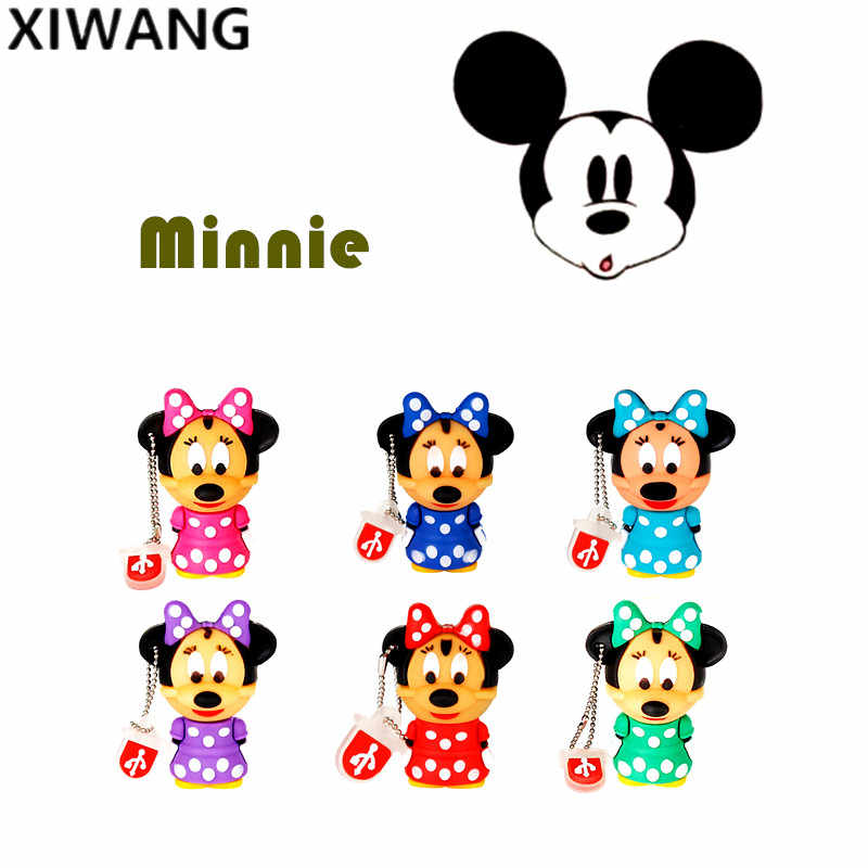 Flash drive GB 8 4GB 16GB capacidade real pen drive key 128gb bonito mini Minnie Mickey usb 2.0 GB 64 32GB usb pendrive Presente Da Moda