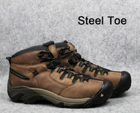 Zapatos de senderismo al aire libre para hombre  zapatos de senderismo todoterreno resistentes a las cuchillas  de cuero genuino y acero