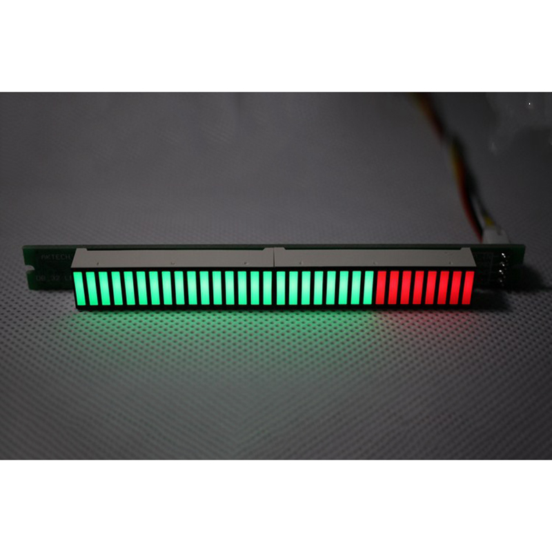 Singel 32 уровень индикатор VU метр стерео усилитель доска Музыка Аудио спектр индикатор регулируемый светильник скорость с AGC