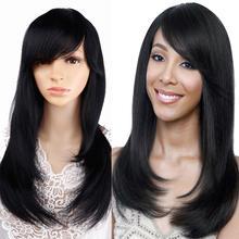 Synthetic Wigs Black Amir Women Bangs Bob-Wig-Hairpiece Party-Wig-Cosplay Long Medium