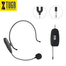 XTUGA UHF Wireless Headset Microphone  System, Rechargeable Transmitter & Receiver, plug and play Handheld 2 in 1,