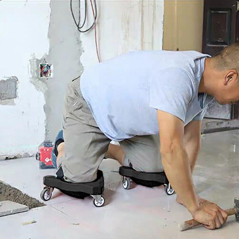 Rolling Knee Bricklayer Knee Pads Tiling Floor Tile Tools Labor Mat Work Knee Pads Construction Worker Welder Knee Foam Pads