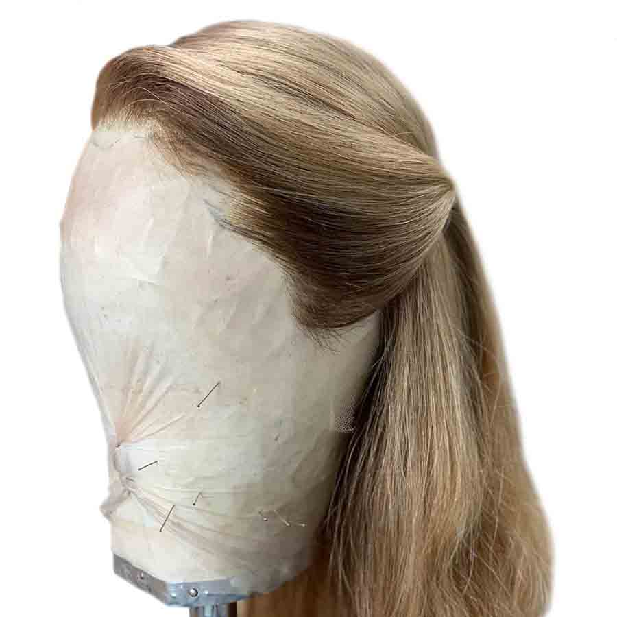 Roselover Straight Pure Ash Honey Blonde 13*6 Lace Front Human Hair Wigs Colored Human Hair Wigs Pre Plucked Brazilian Remy Hair