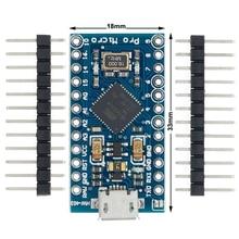 20ชิ้น/ล็อตPro MicroสำหรับArduino ATmega32U4 5V/16MHzโมดูล2แถวสำหรับLeonardoใน. คุณภาพที่ดีที่สุด