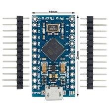 20 unids/lote Pro Micro para módulo arduino ATmega32U4 5V/16MHz con cabezal de 2 pines de fila para Leonardo en stock. La mejor calidad