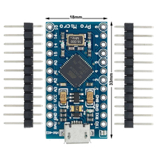 20pcs/lot Pro Micro for arduino ATmega32U4 5V/16MHz Module with 2 row pin header For Leonardo in stock . best quality
