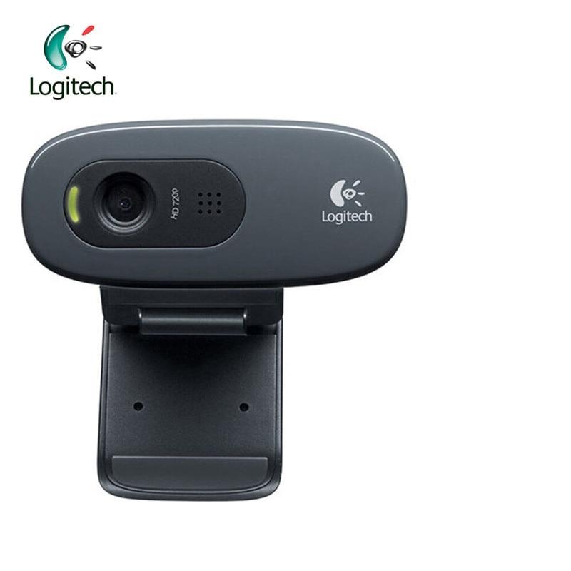 Logitech Original C270/C270i IPTV HD PC Mini Camera Built-in Microphone USB2.0 Drive Webcam For Video Calling Conference