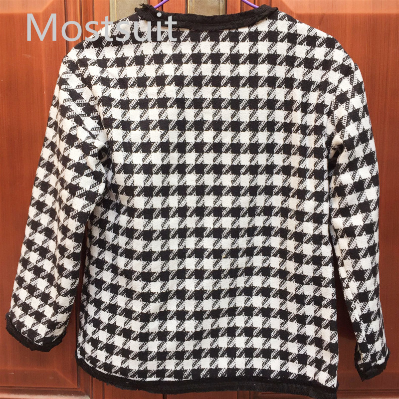 H7b09d4699552458c927a61d14f9485653 - Houndstooth Vintage Two Piece Sets Outfits Women Autumn Cardigan Tops And Mini Skirt Suits Elegant Ladies Fashion 2 Piece Sets