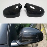 Carbon Rear View Mirror Cover Replacement Style For Jetta MK5 GOLF 5 GTI R32 GOLF PLUS 2004 2009 Passat B6 CT