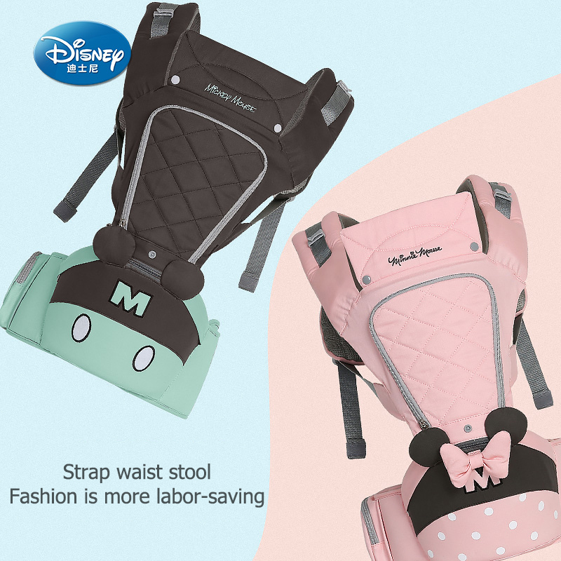 Disney carrier backpack waist tool baby carrier front holding baby children sitting stool universal multifunctional-in Backpacks & Carriers from Mother & Kids    1