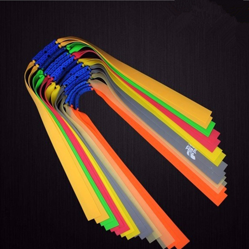 5pc Slingshots Flat Rubber Band Thicknes 0.55-0.8mm Catapult Natural Latex Flat Elastic Resilient For Shooting
