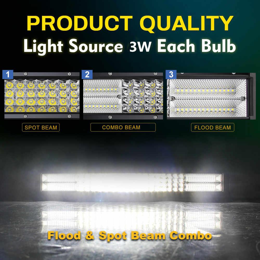 CO LIGHT Super Bright Led Bar 12D 52inch 924W 4-Row Led Light Bar Combo Led Beams for Lada Offroad Niva Jeep ATV 4X4 UAZ 12V 24V