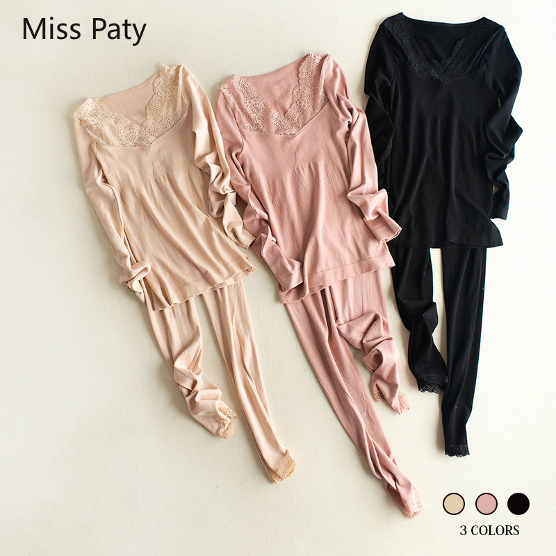 Sexy Body Shaped Intimate Lingerie Thermo Winter Wear Clothing Suit Tmall Thermal Underwear Female Set For Women Warm Long Johns