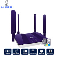 R8 3g 4g Wifi Router LTE GSM Modem Wireless 300Mbps Lte Cpe 4 antenne Home Outdoor Gigabit Mobile Hotspot con Slot per schede Sim