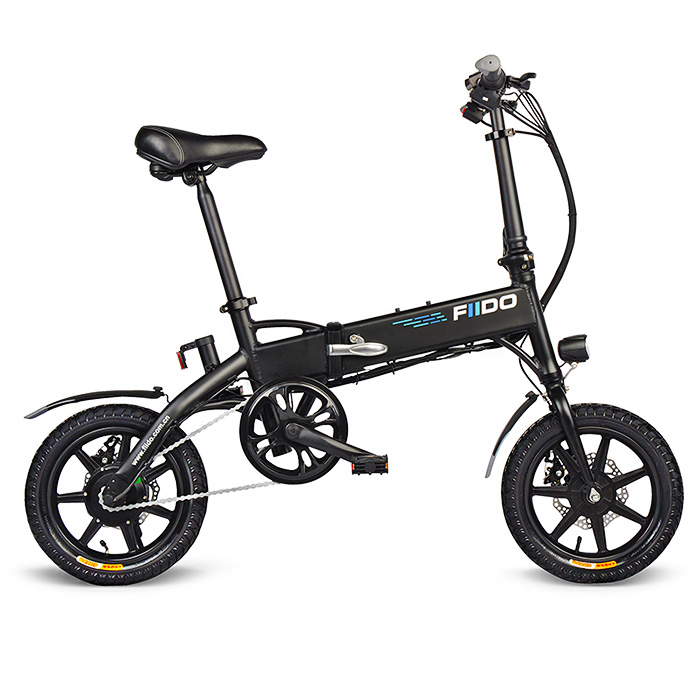 Fiido D1 Folding Electric Bike Two Wheels Electric Bicycle 14 Inch 36V 250W Mini Adults Electric Scooter With Seat