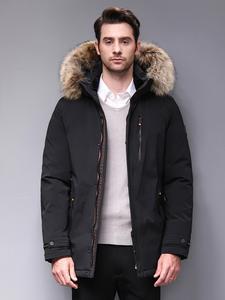 Blackleopardwolf 2019 Зимняя мужская куртка парка для мужчин аляска ветрозащитная съемная верхняя одежда роскошный мех BL-1002M