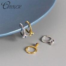 CANNER Lucky Evil Eyes Earring 100% 925 Sterling Silver Earrings for Women Mini Zircon Blue Small Stud Punk Jewelry