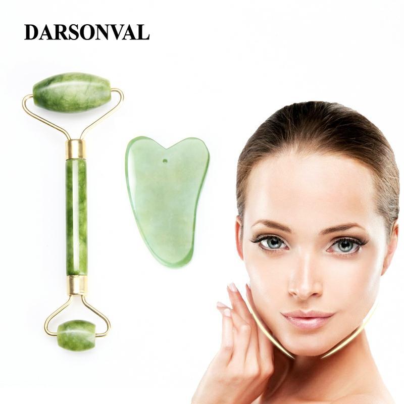 Darsonval Natural Facial Beauty Massage Tool Jade Roller Face Massager Slimming Body Jade Massager