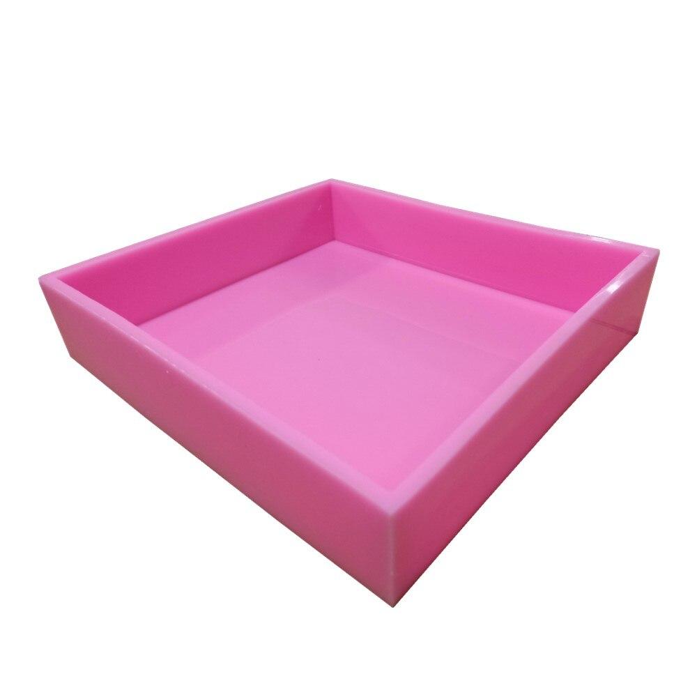 Rozmiar 36.2*29.2*8.4 cm formy silikonowe mydło płyty formy silikonowe taca do produkcji mydła w Formy do mydła od Dom i ogród na  Grupa 1