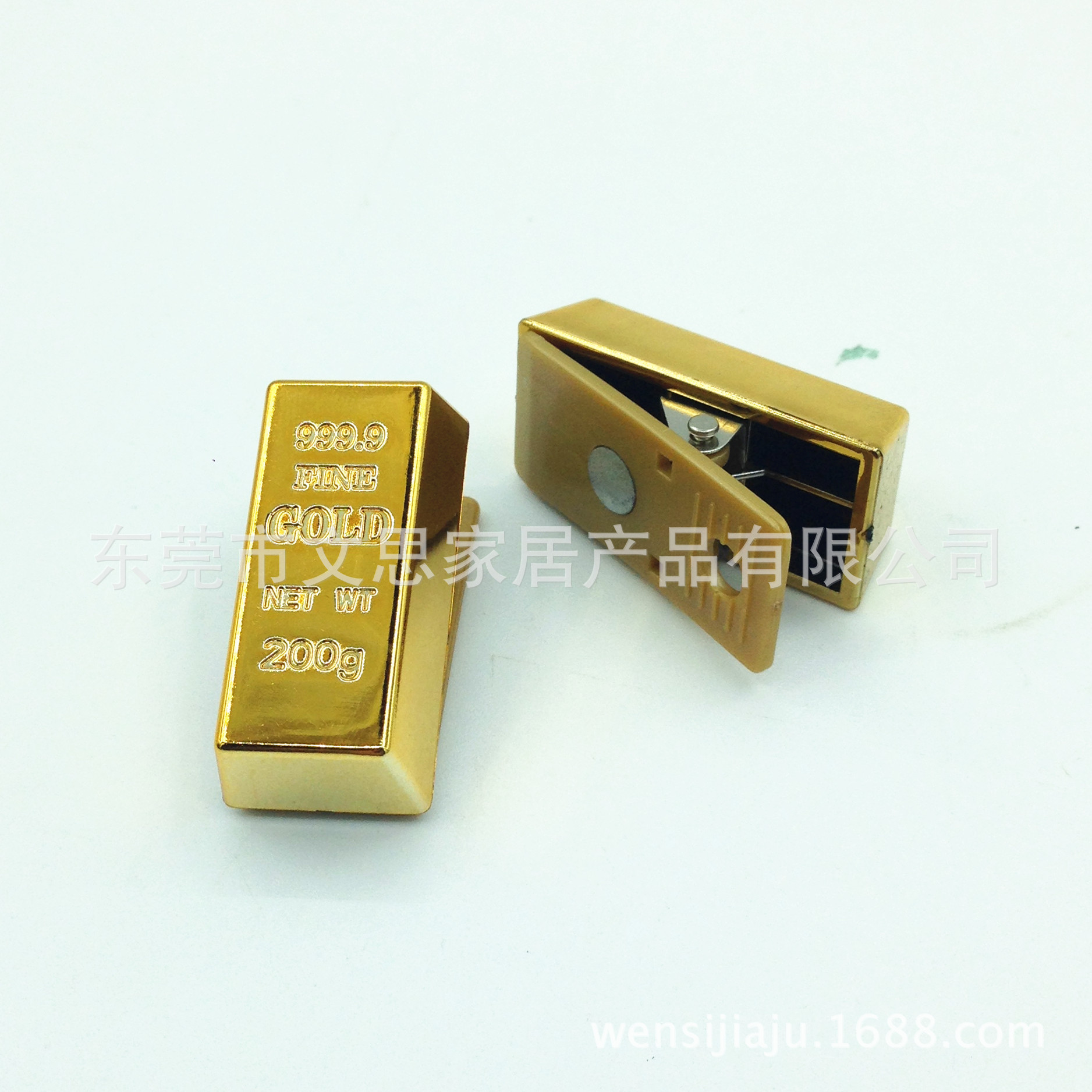 Creative Office Stationery Small Clip/Gold Bars Magnetic Clip/Folder Voucher/Documents Creative Gifts Wholesale